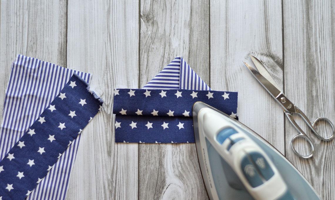 CasaFacile FRinaldi origami tessuto segnaposto barchetta pieghe
