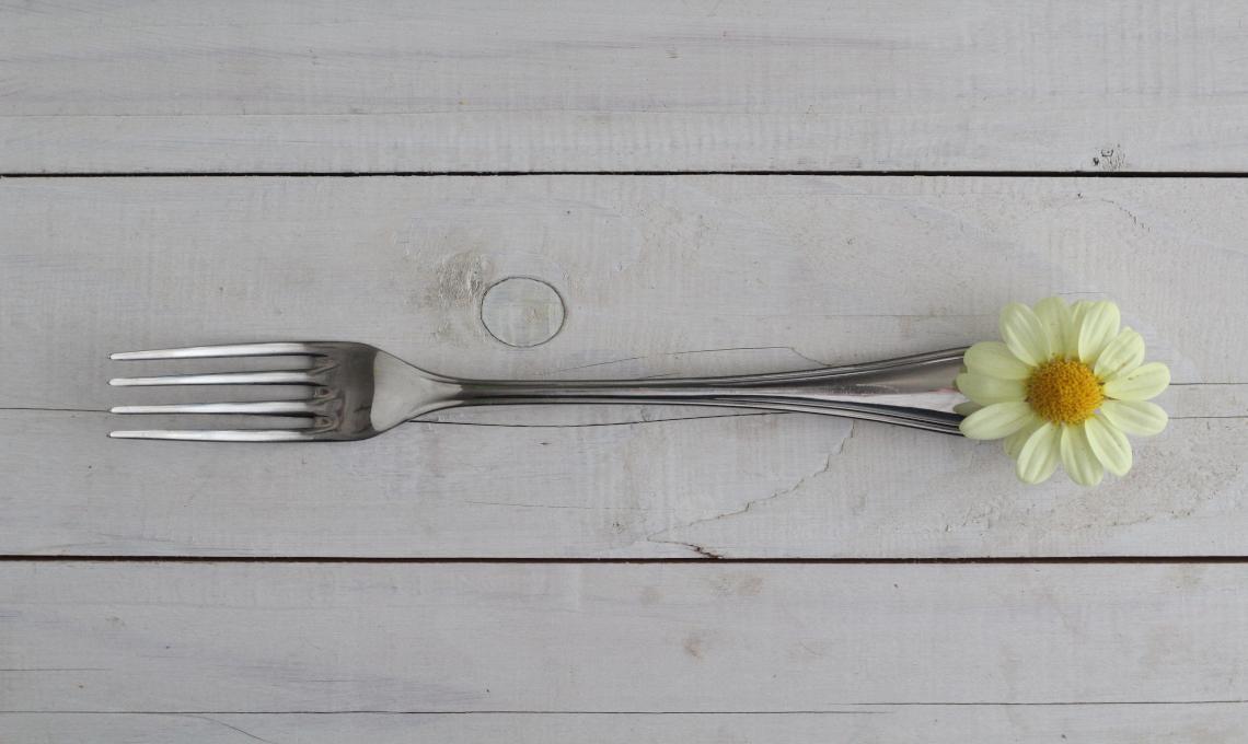 CasaFacile LAAbelli fiore tavola forchetta