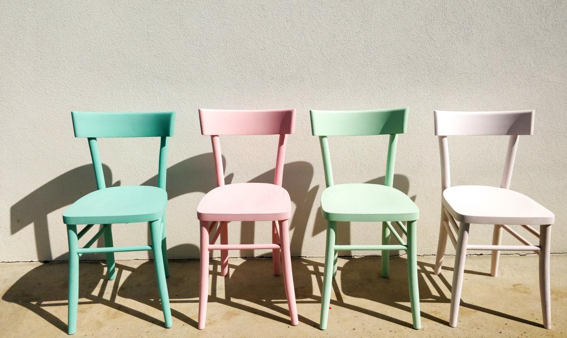 CasaFacile SFilippi recuperare sedie pastello