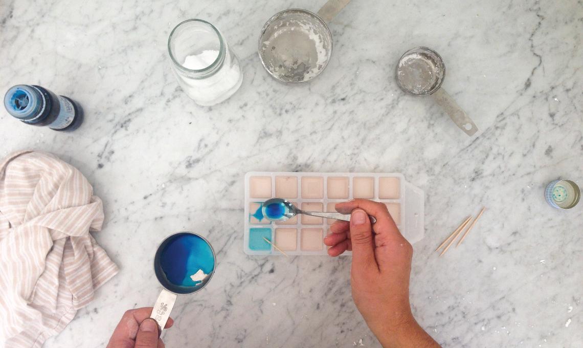 CasaFacile VDaveri acquerelli DiY blu