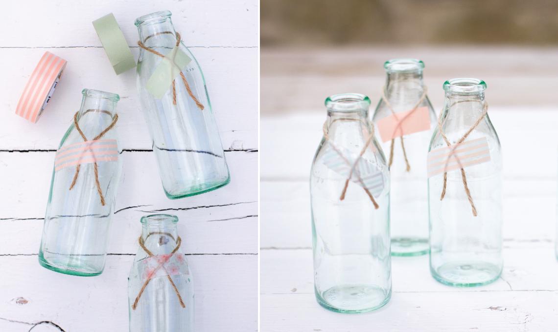 CasaFacile VDaveri DiY party bottiglie washi
