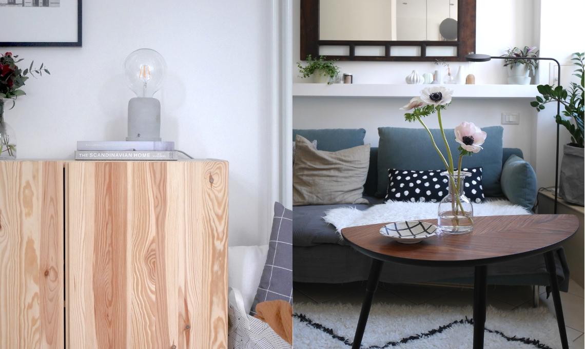 CasaFacile VRaviolo living nordico divano luci