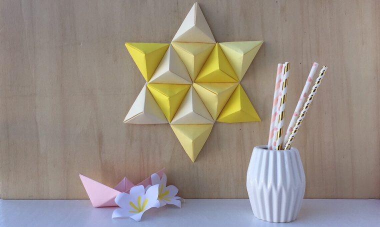 Come fare una stella con piramidi origami