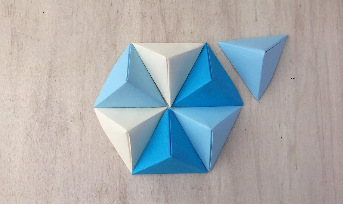 Casafacile RPini origami triangolo stella esagono
