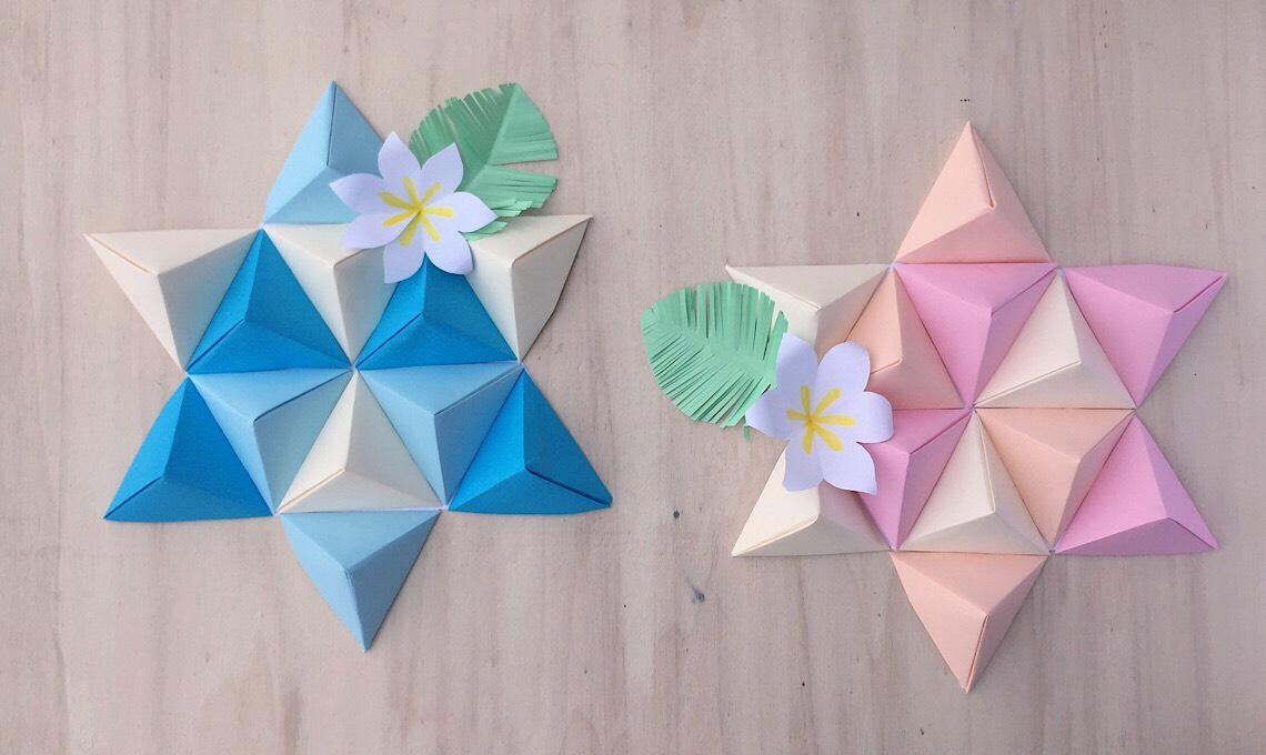 Casafacile RPini origami triangolo stella