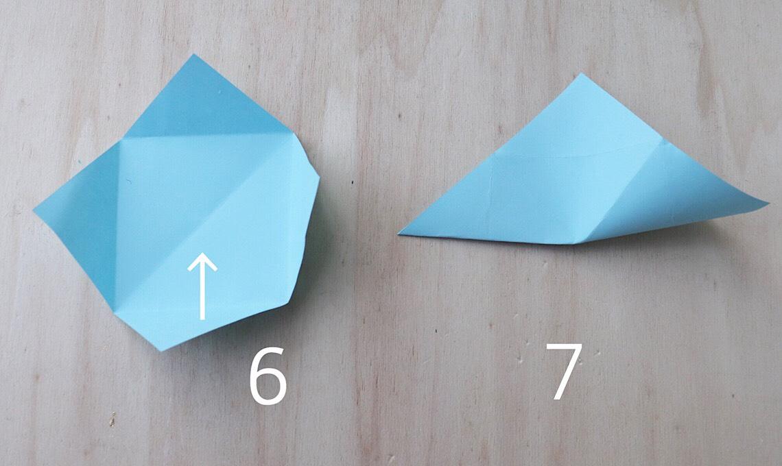 Casafacile RPini origami triangolo stella tutorial centrale
