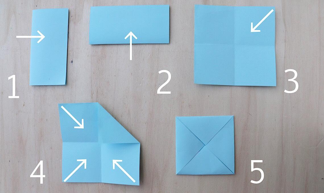 Casafacile RPini origami triangolo stella tutorial inizio