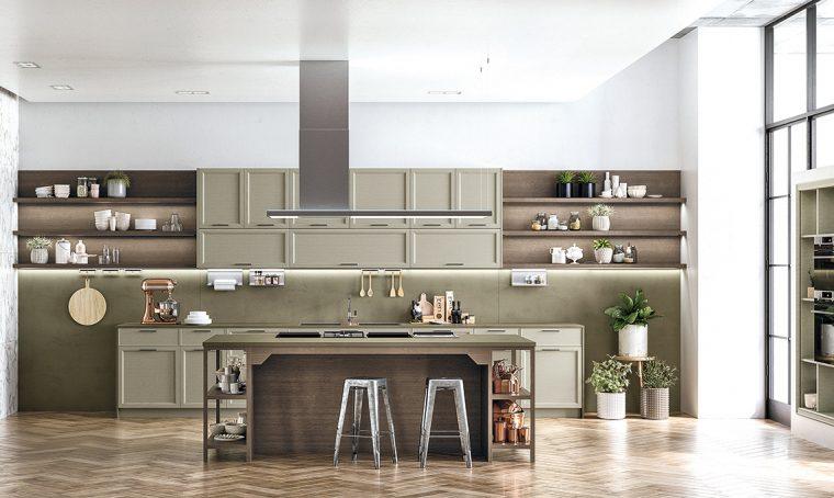 La cucina classica con elementi contemporanei e minimal