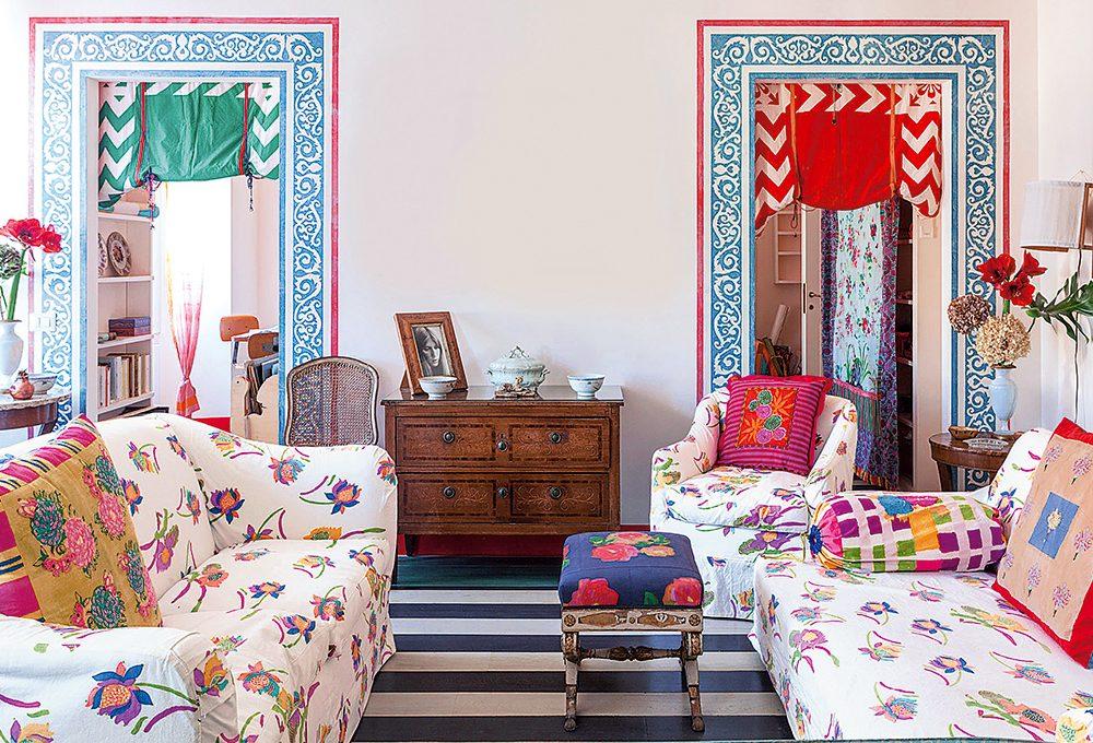 A casa della textile designer Lisa Corti