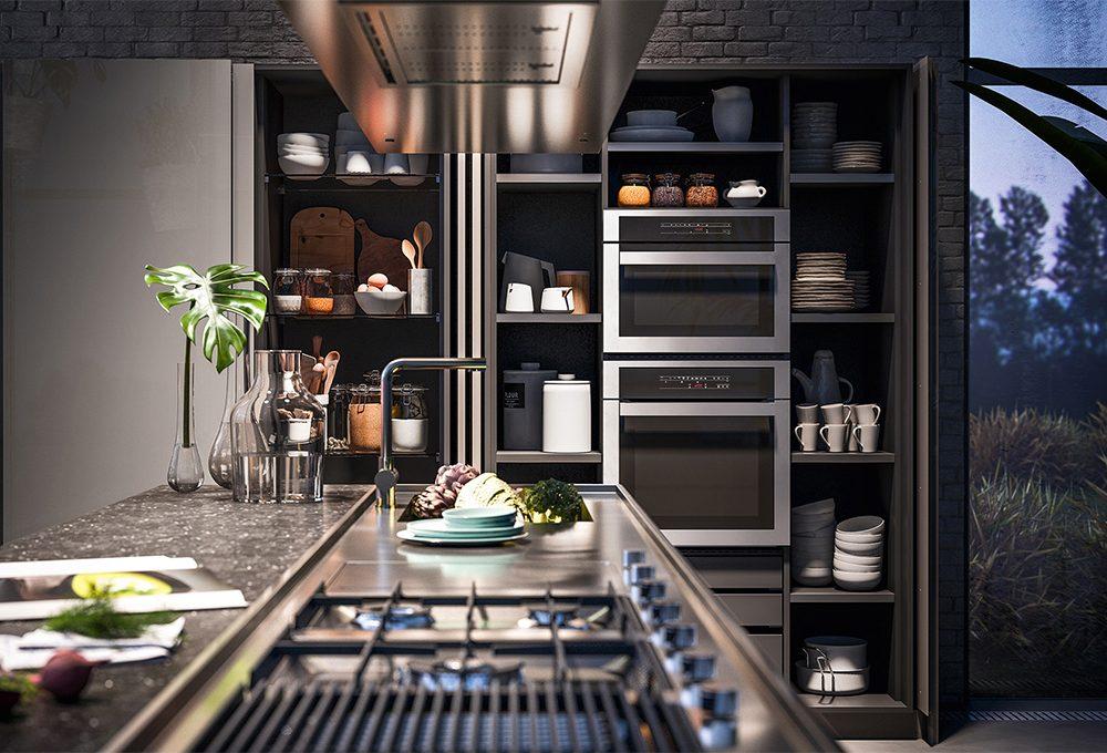 Come nascondere gli elettrodomestici in cucina