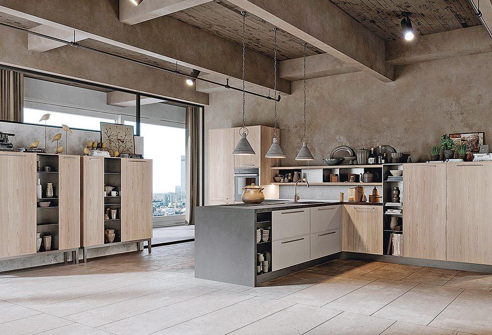 Arredare una cucina con soffitto basso