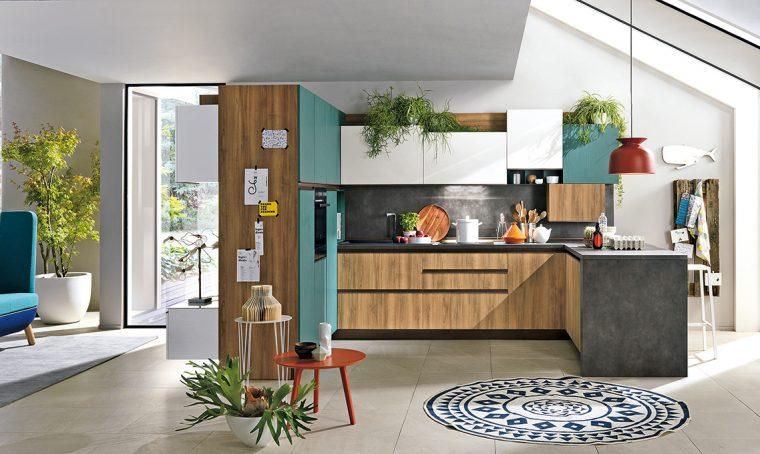 Per questa cucina non servono lavori di muratura
