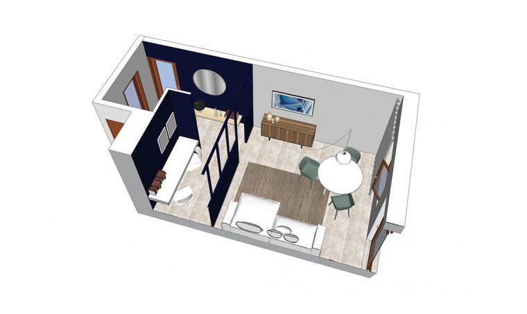 Come creare una zona studio in salotto senza alzare muri