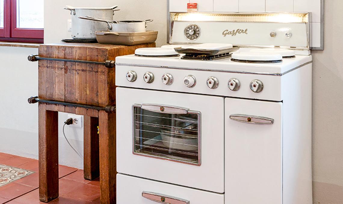 Limpianto a gas a norma per la cucina vintage casafacile