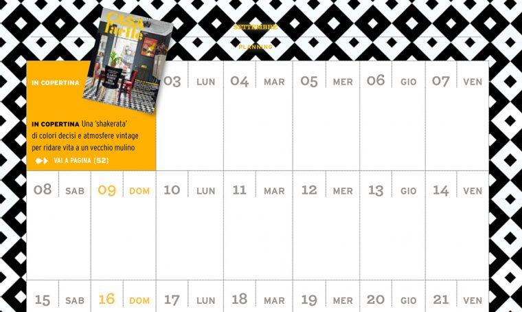 CasaFacile di settembre ti regala il planning del mese