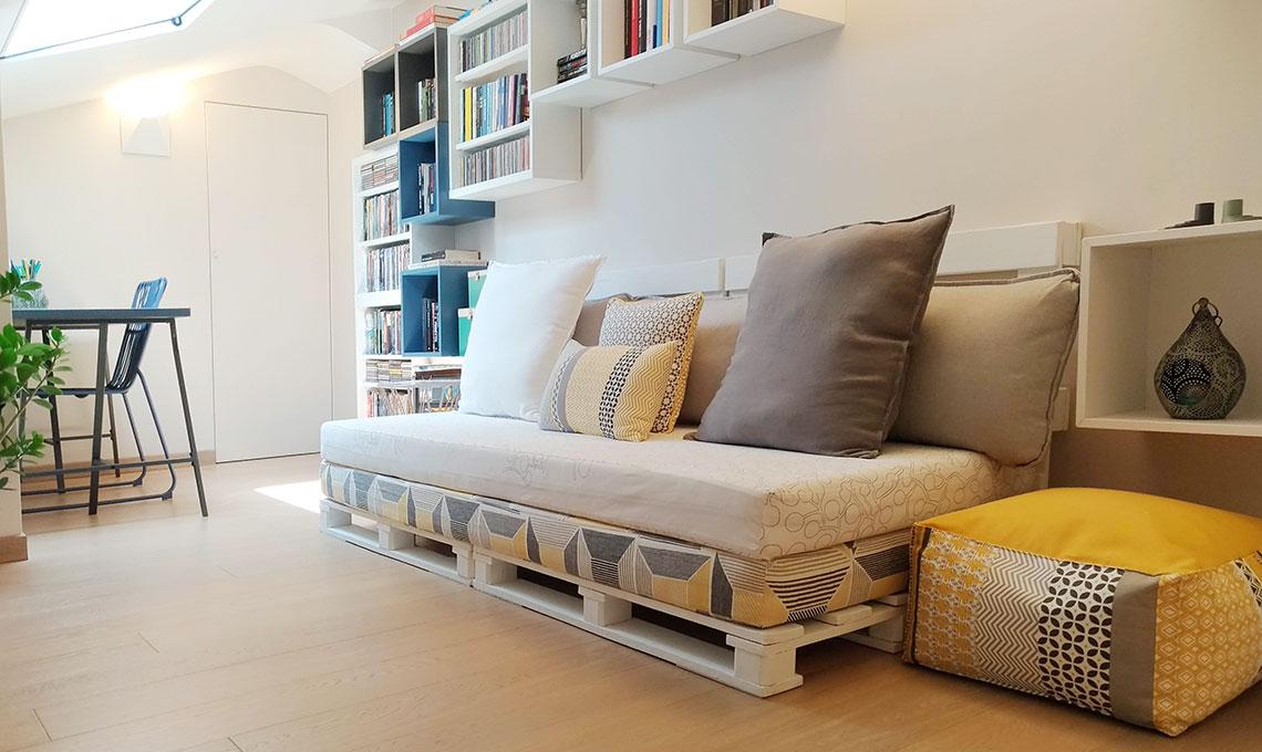 Realizzare Mobili Con Pallet : Come realizzare un divano fai da te con i pallet casafacile