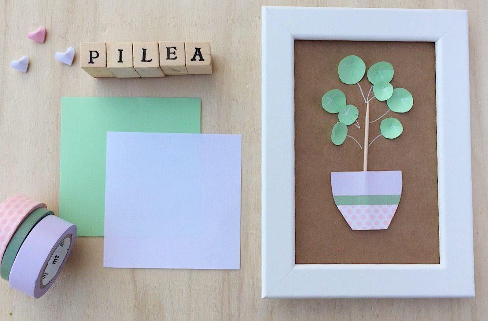 Realizza un quadretto con la Pilea Peperomioides di carta