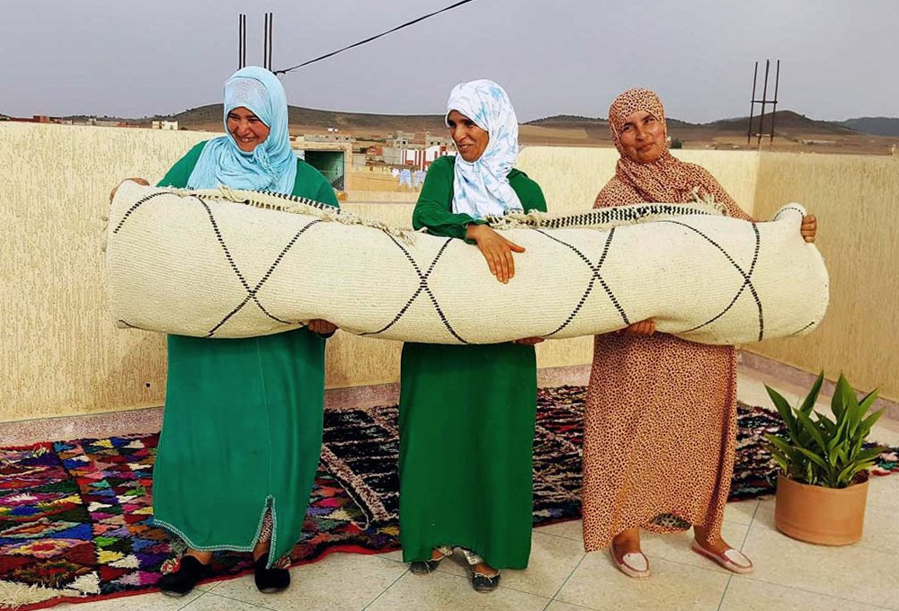 Manutenzione e cura dei tappeti berberi Beni Ourain