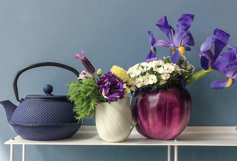 Trasforma le verdure in vasi per i fiori