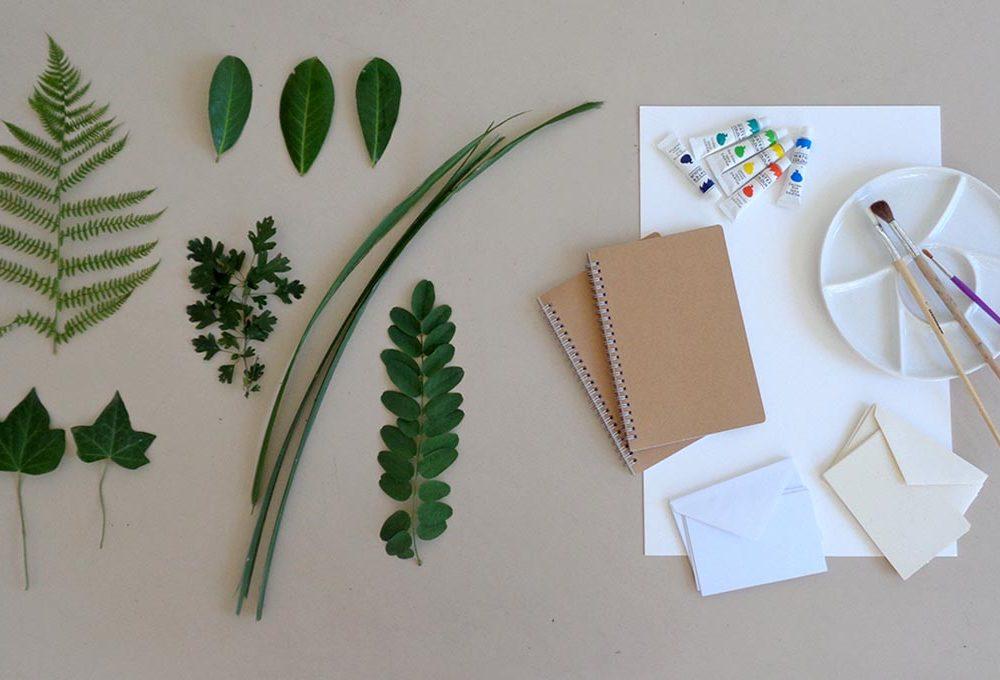 Impara a dipingere con le foglie