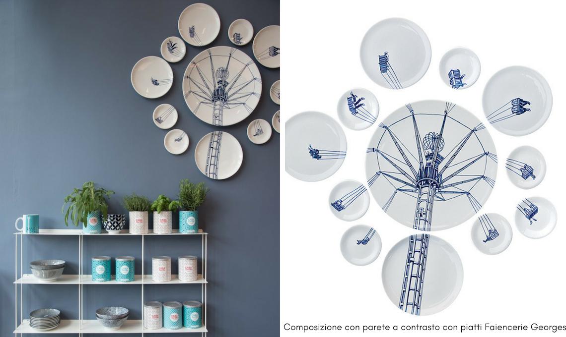 Pareti Con Fotografie : Consigli per decorare le pareti con i piatti casafacile