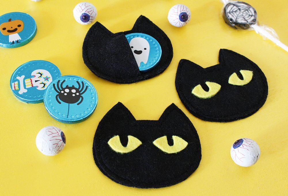 Halloween: porta dolcetti a forma di gatto