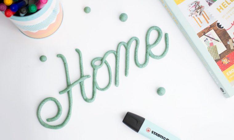 Crea una scritta decorativa con il fimo