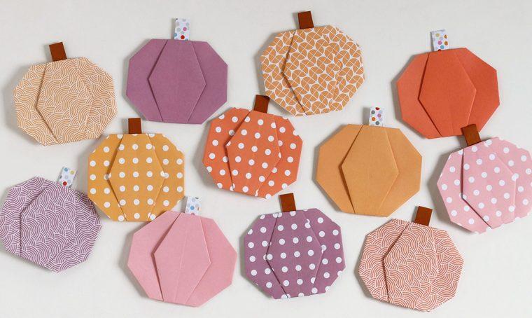 Decora la casa per l'autunno con le zucche origami