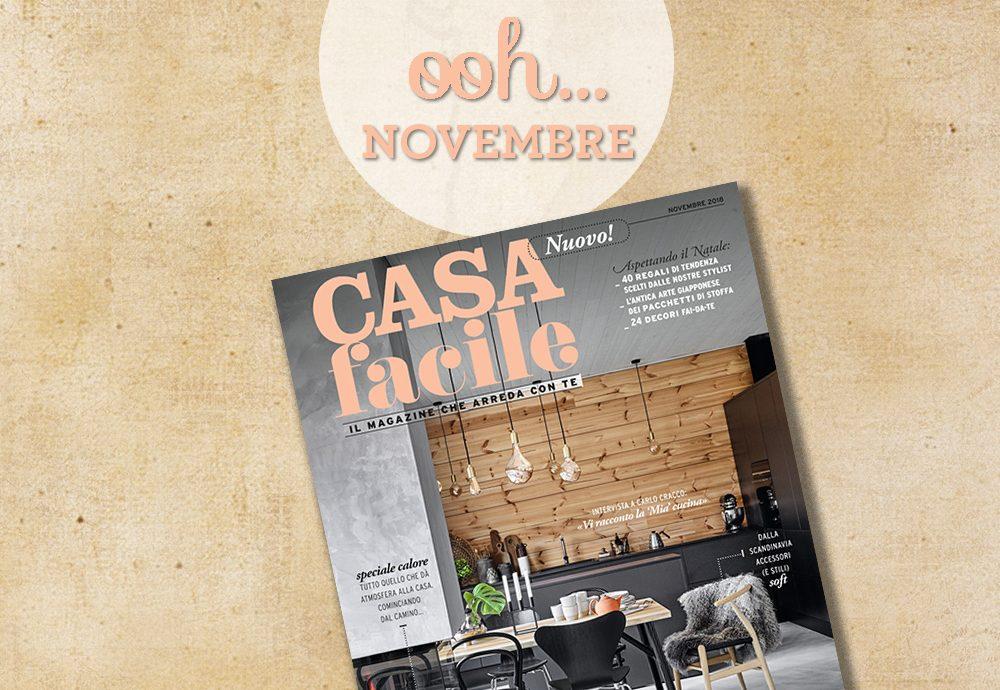 CasaFacile: il numero di novembre 2018