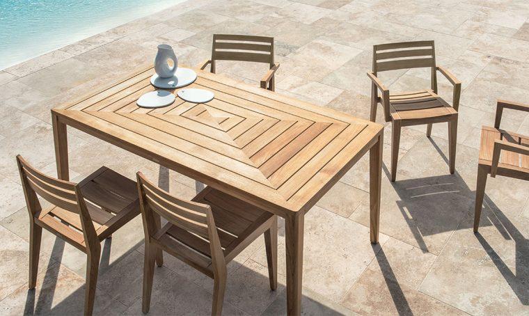 Tavoli rettangolari per il terrazzo e il giardino