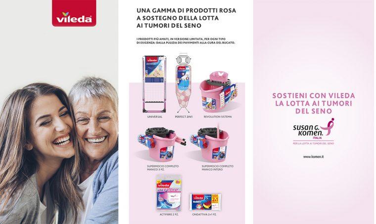 Vileda lancia 'Promozione Rosa' a sostegno della lotta contro i tumori al seno