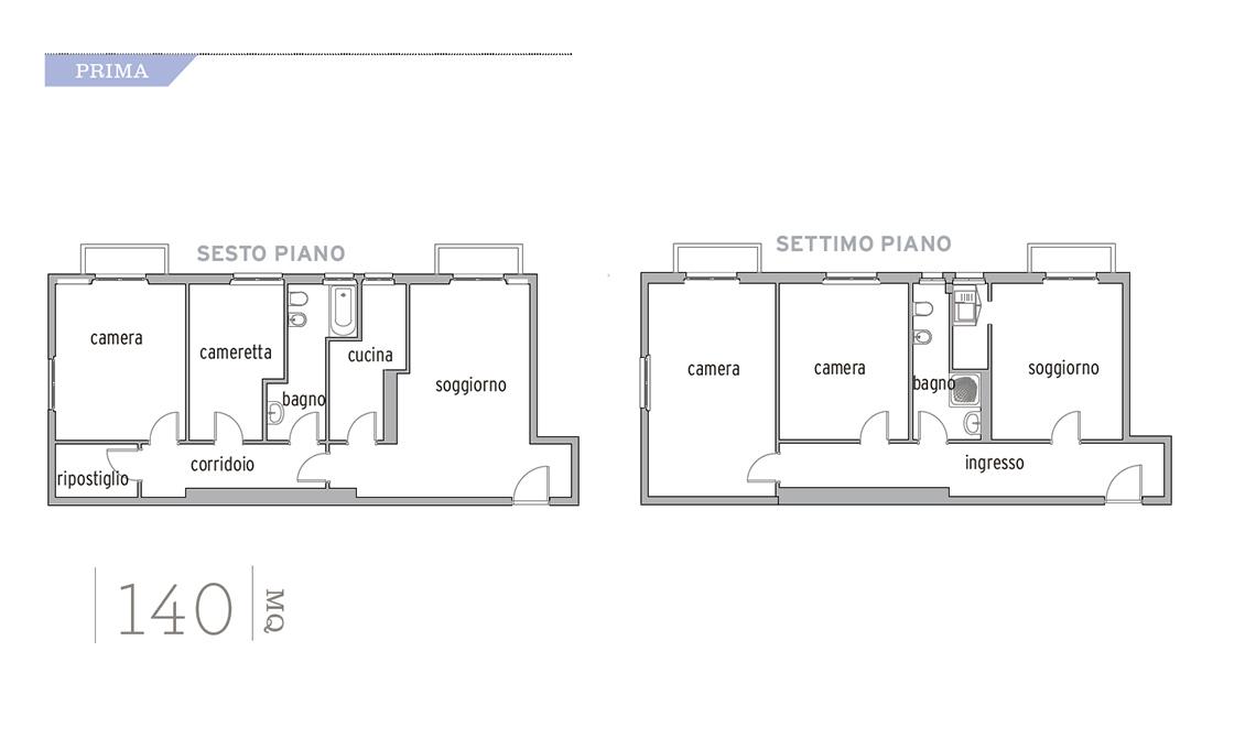 Ristrutturazione di un appartamento di 140 mq su due piani ...