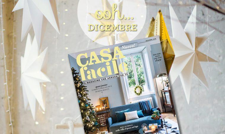 CasaFacile: il numero di dicembre 2018