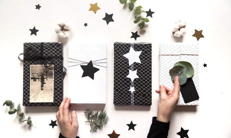 4 idee per pacchetti regalo originali in bianco e nero