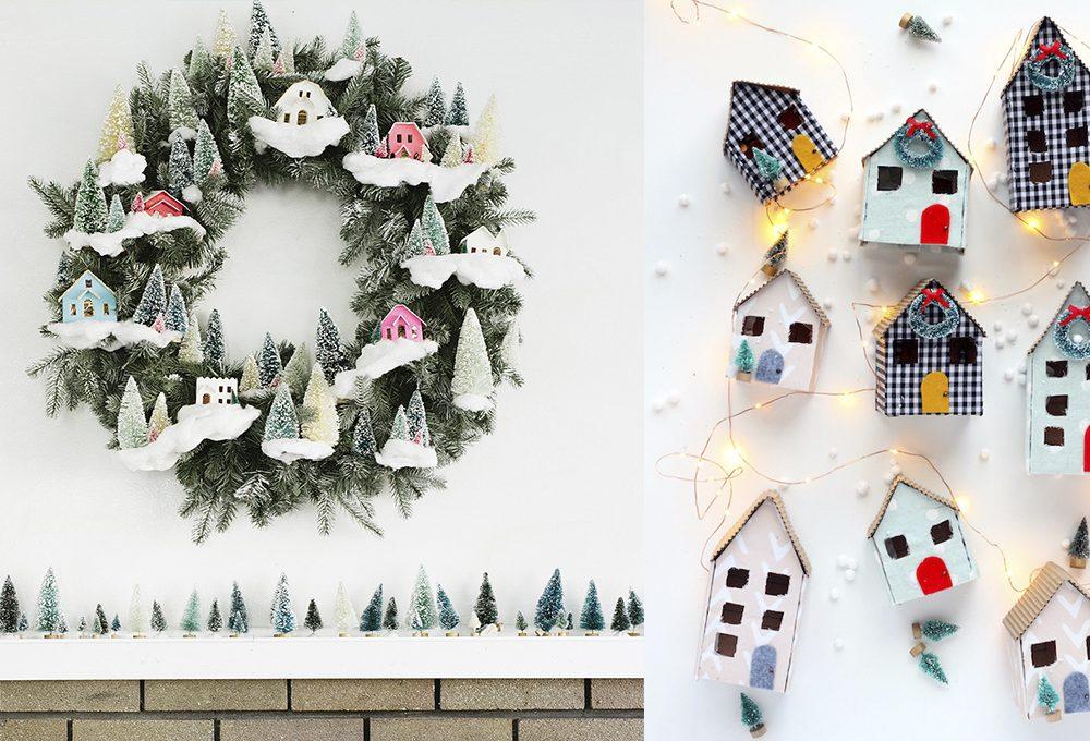 Natale: decorare la casa con le putz houses