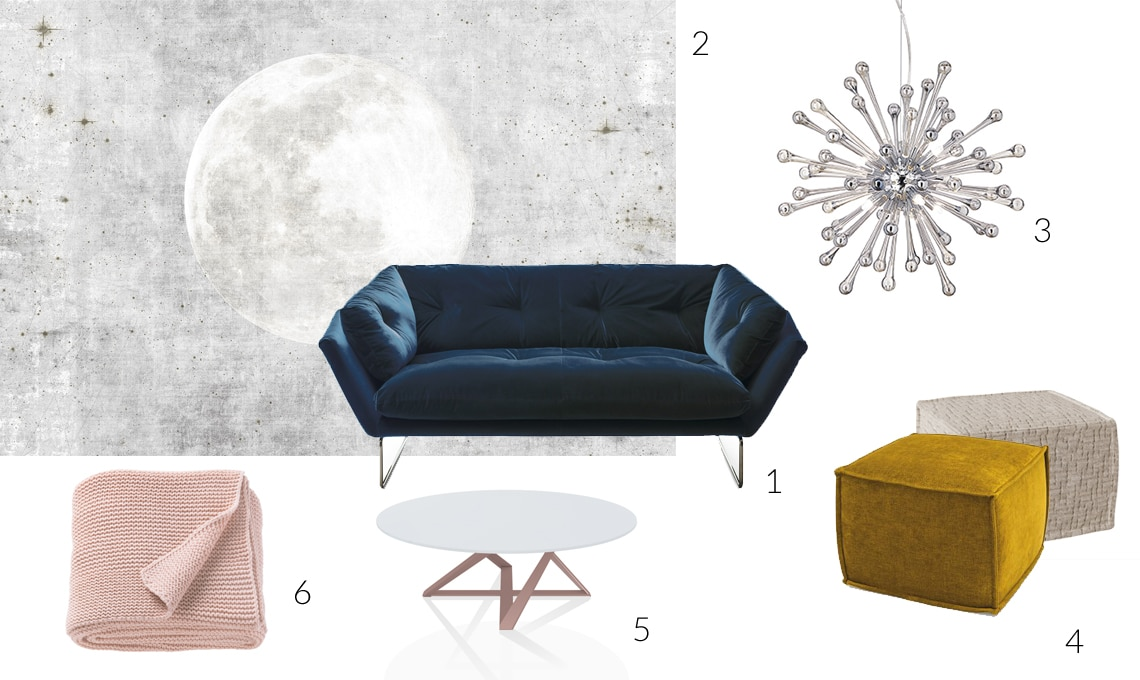 Divano Rosa Cipria : Arreda il soggiorno con un divano in velluto casafacile