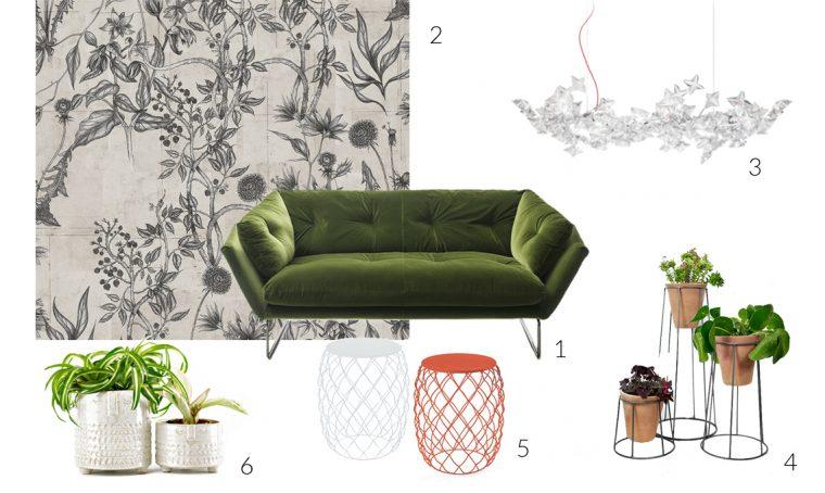 Arreda il soggiorno con un divano in velluto