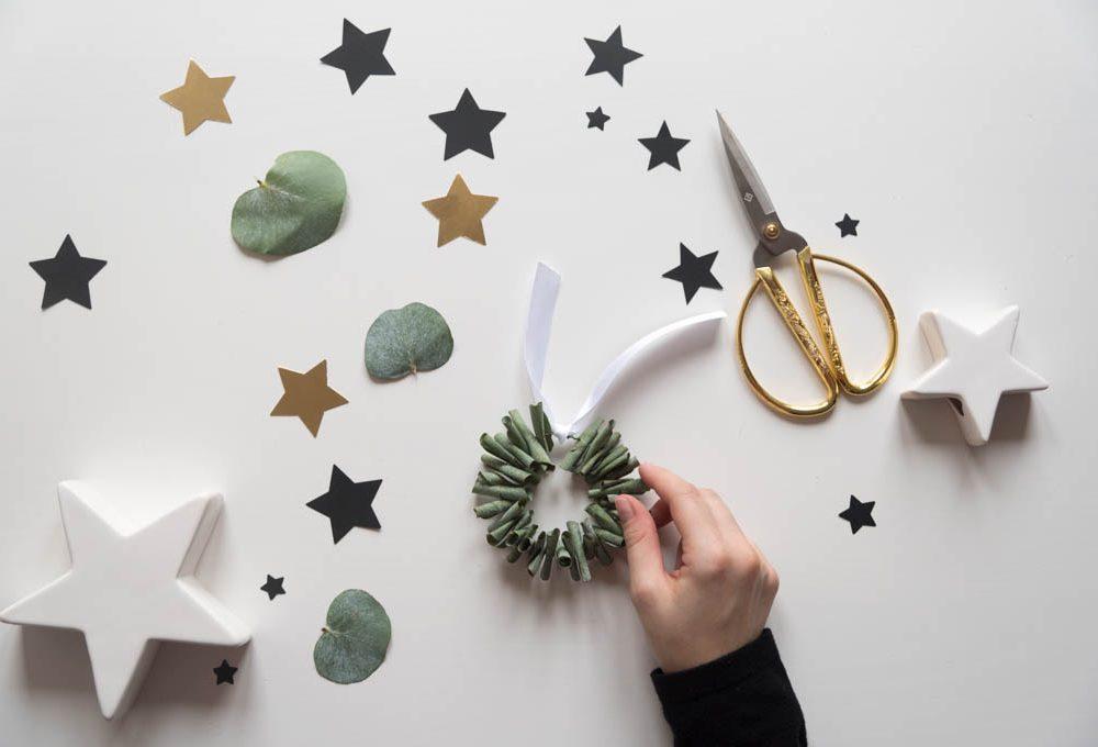 Decorazioni green per l'albero di Natale