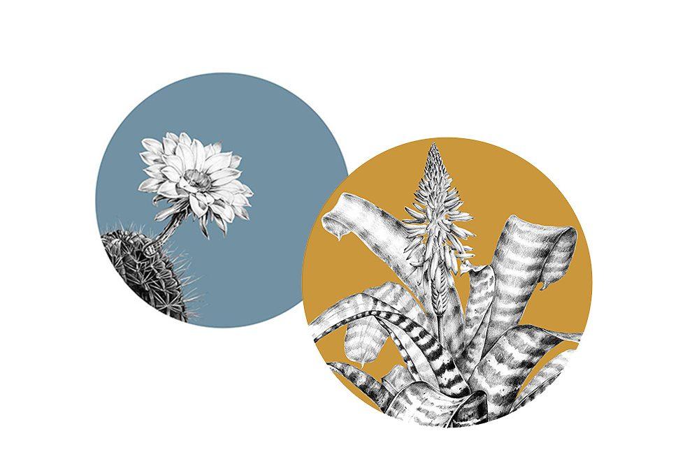 Sottopiatti decorativi con fiori e foglie