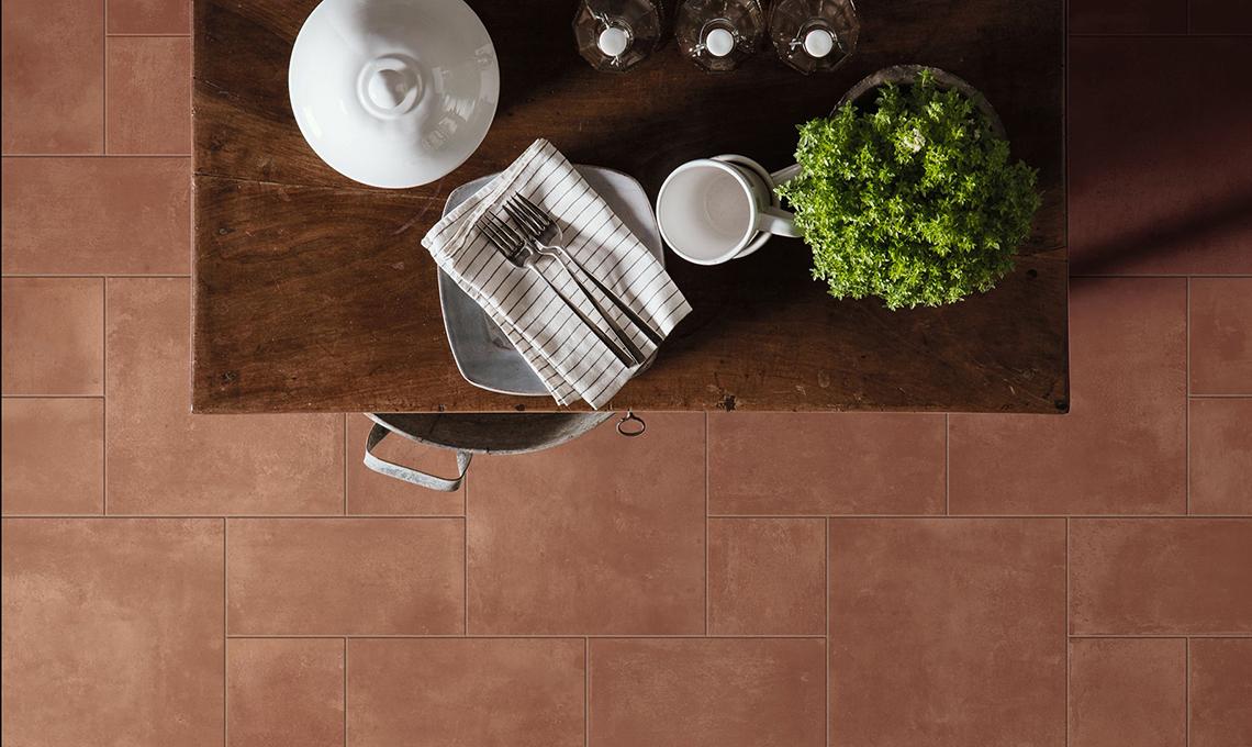 casafacile-focus calore-cucina-piastrelle in cotto