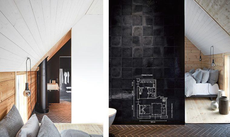 Camera da letto, cabina armadio e bagno in 20 mq