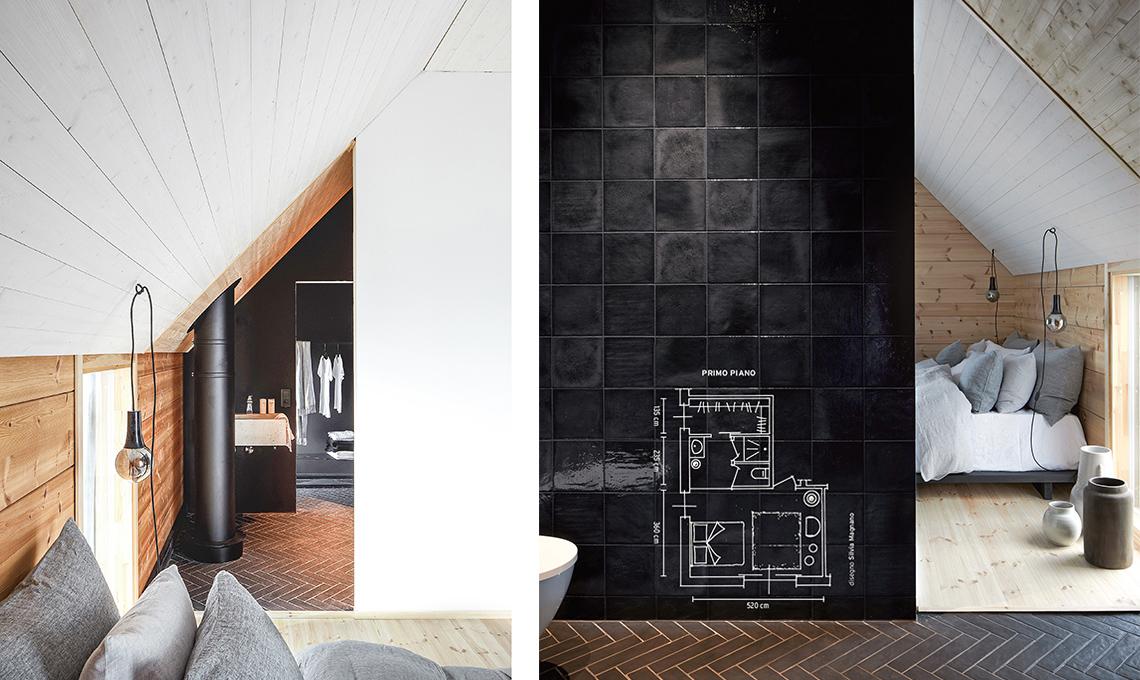 Camera da letto, cabina armadio e bagno in 20 mq - CASAfacile