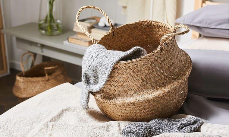12 cestini in fibre vegetali
