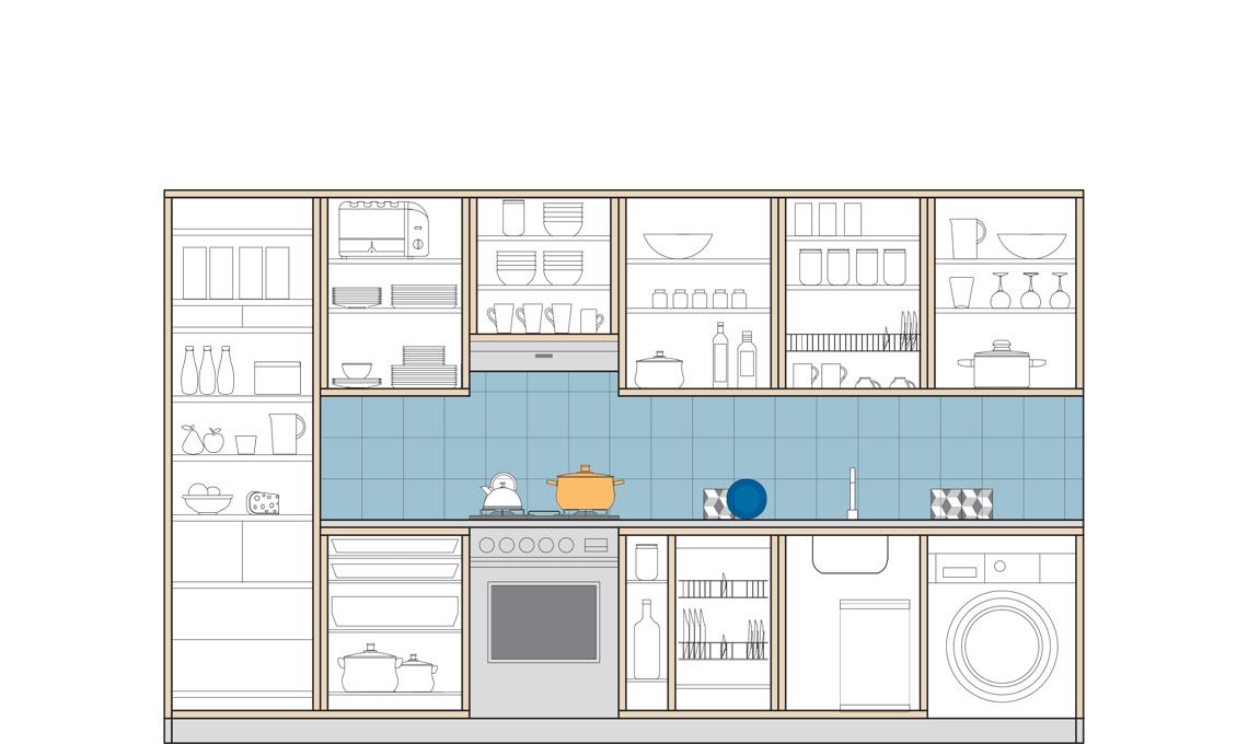 Cucina 3 Metri Lineari.La Cucina Super Organizzata In 3 6 Metri Lineari Casafacile