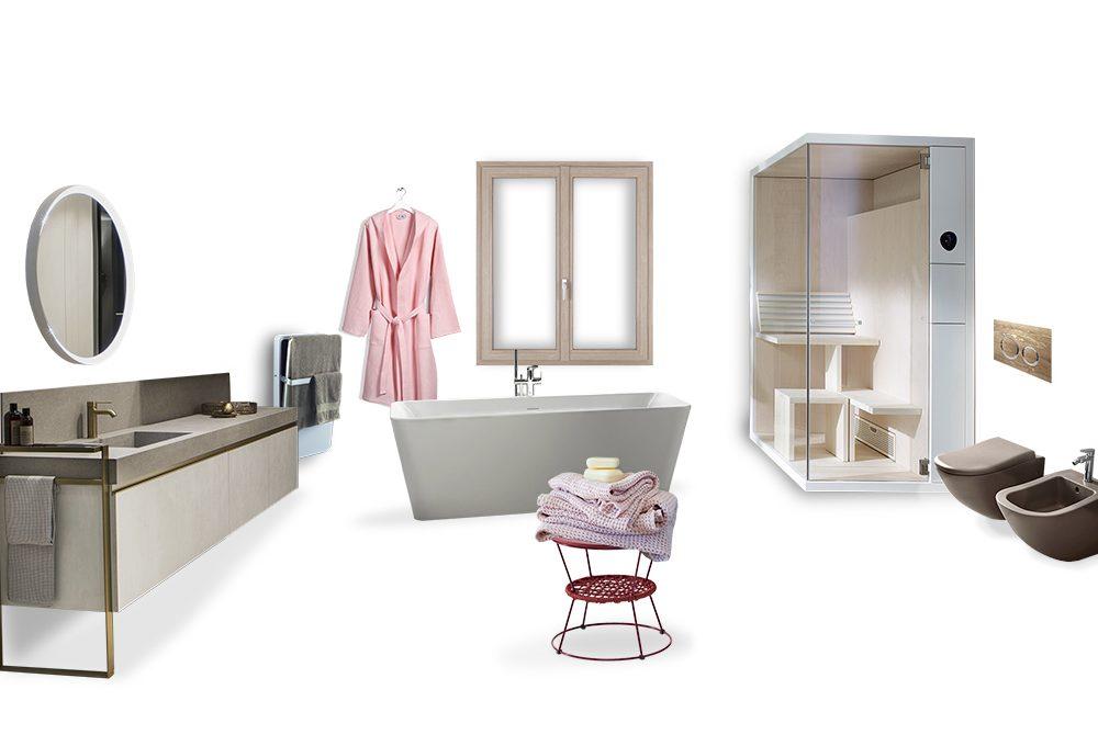 Il bagno effetto SPA con sauna e stufa