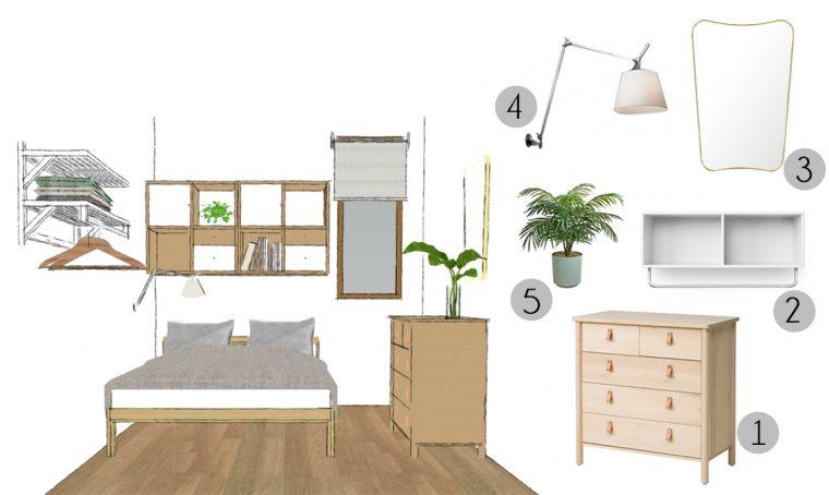 Ottimizzare lo spazio nella camera degli ospiti