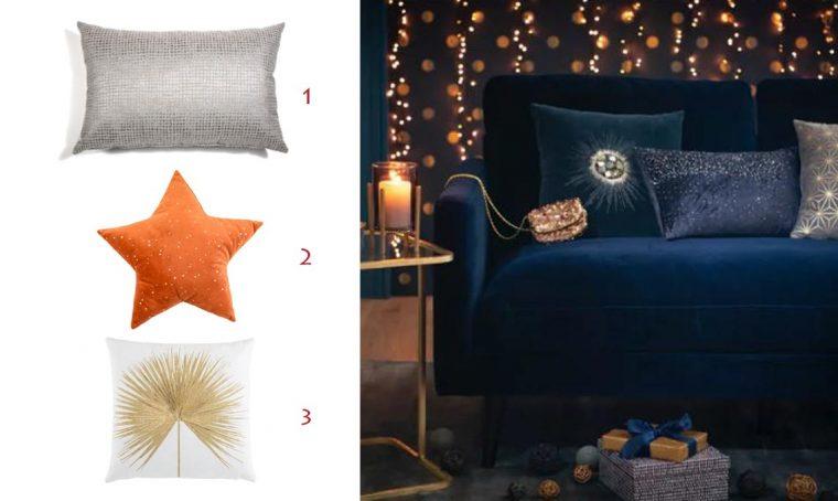 Natale: arredare con i cuscini