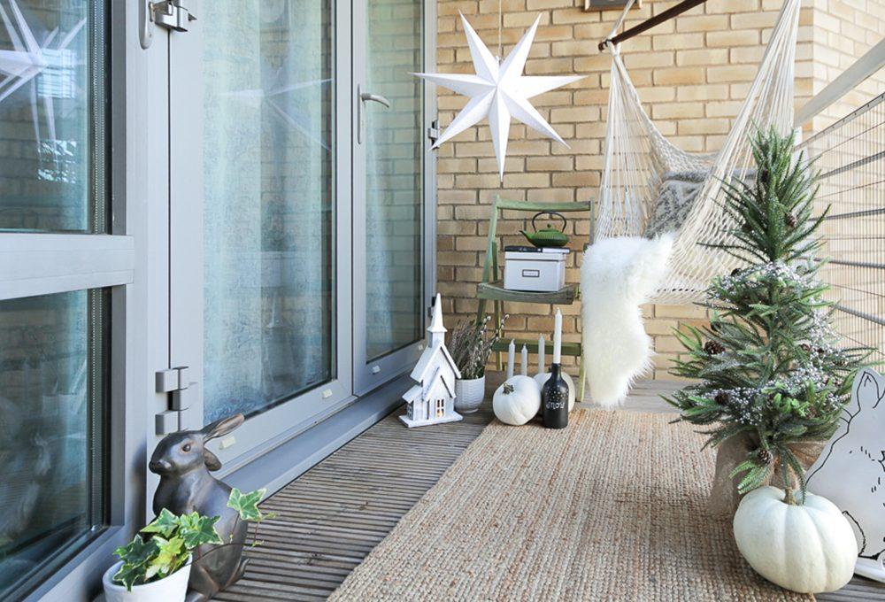 Decorare il terrazzo per Natale