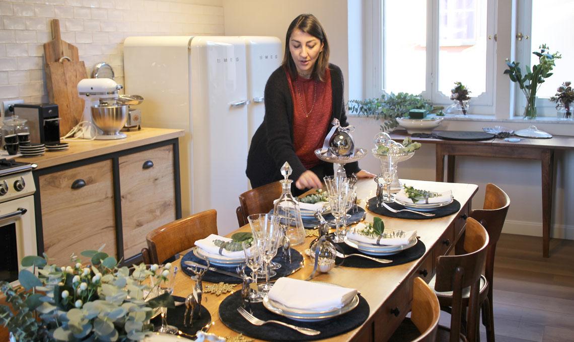 Vanessa Pisk racconta le sue scelte per l'allestimento della tavola natalizia