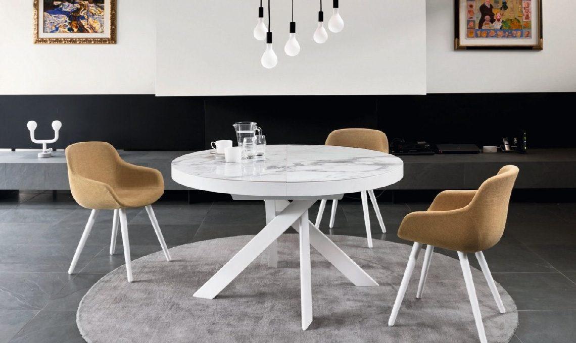 Tavolo Pranzo Tondo.10 Tavoli Rotondi E Ovali Per La Sala Da Pranzo Casafacile